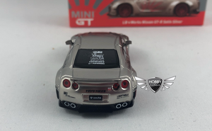 LB Works Nissan GT-R Satin Silver MiJo Exclusives Mini GT #49