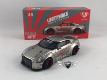 Load image into Gallery viewer, LB Works Nissan GT-R Satin Silver MiJo Exclusives Mini GT #49