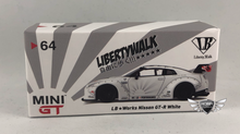 Load image into Gallery viewer, LB Works Nissan GT-R (R35) White USA Exclusives MiJo Exclusives Mini GT #64