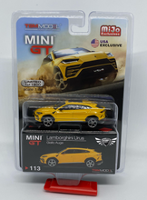 Load image into Gallery viewer, Lamborghini Urus Giallo Auge #113 MiJo Exclusives MINI GT
