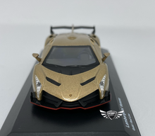 Load image into Gallery viewer, Lamborghini Veneno Gold/Red Line Kyosho