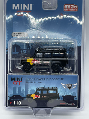 Land Rover Defender 110 Red Bull Luka MiJo Exclusive Mini GT #110