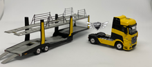 Load image into Gallery viewer, Mercedes-Benz Astros Yellow w/Car Carrier #137 Mini GT