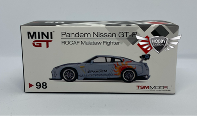 Mini GT Pandem Nissan GT-R ROCAF Malataw Fighter #98 Taiwan Exclusives