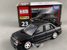 Load image into Gallery viewer, Mitsubishi Lancer GSR Evolution lll Tomica Premium #23 (NEW)