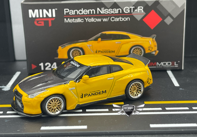 Nissan GT-R R35 Pandem Duck Tail YL MiJo Exclusives MINI GT #124