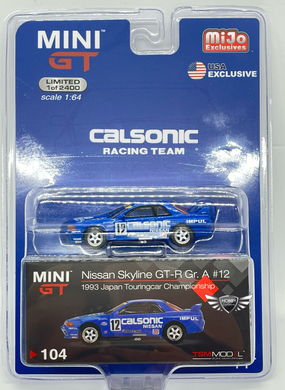 Nissan Skyline GT-R Gr. A #12 1993 Japan Touringcar #104 MiJo Exclusives MINI GT