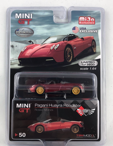 Pagani Huayra Roadster Rosso Monza Red MiJo Exclusives MINI GT #50