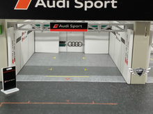 Load image into Gallery viewer, Pit Garage Diorama Audi Sport 1/64 Tarmac Works