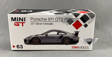 Load image into Gallery viewer, Porsche 911 GT2 RS GT Silver Metallic #63 MiJo Exclusives MINI GT