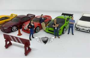 Street Racing Figures MiJo Exclusives AMERICAN DIORAMA