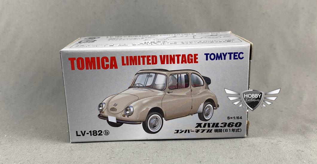 Subaru 360 Convertible (OPEN TOP) Tomica Limited Vintage LV-N182b (NEW)