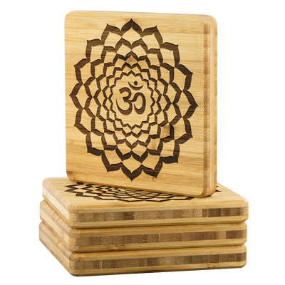 OM Bamboo Coaster Set