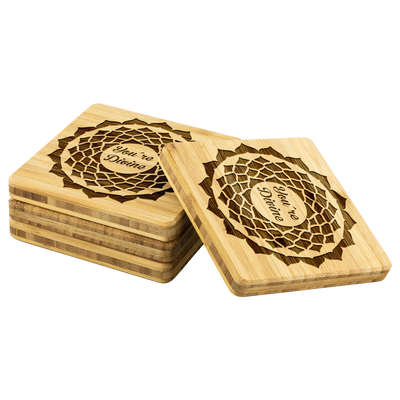 Divine Bamboo Coaster Set
