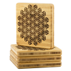 Flower of Life Bamboo Coaster