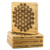 Flower of Life Bamboo Coaster Set