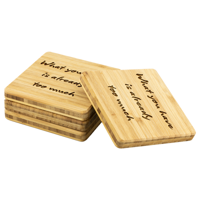 TOO MUCH Bamboo Coaster Set