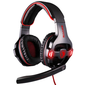 USB 7.1 Virtual Surround Sound Headset Breathing LED Light USB Gaming Headphone Computer PC Gaming Headset