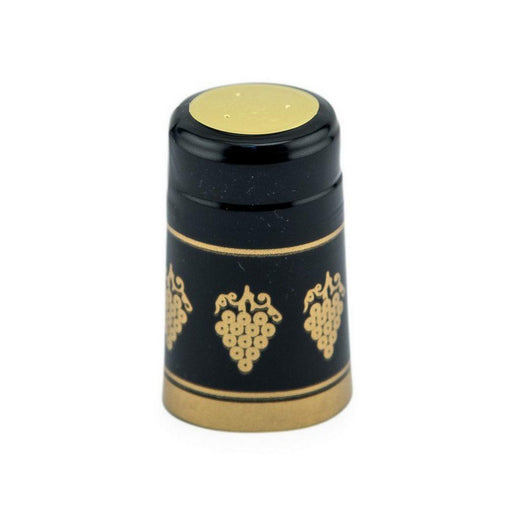 Shrink Cap | Black/Gold Grapes (PK100)