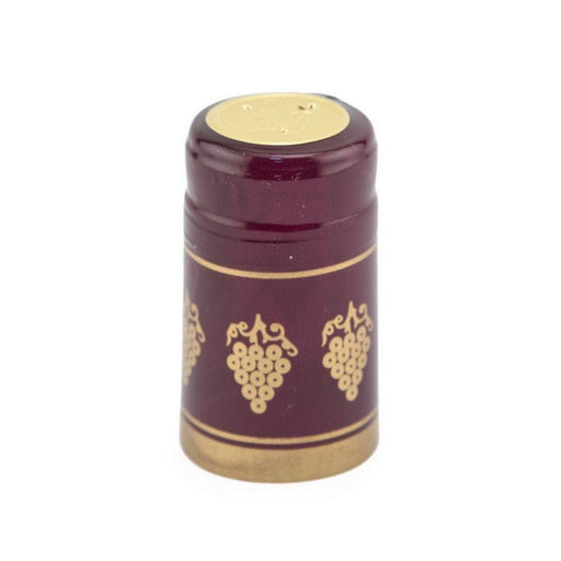 Shrink Cap | Burgundy/Gold Grapes (PK100)