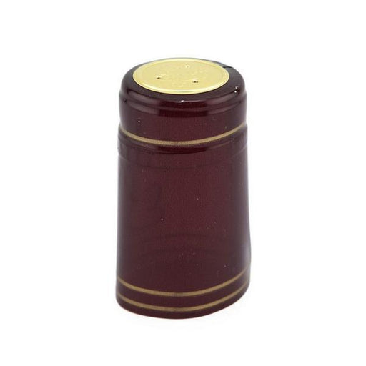 Shrink Cap | Burgundy/Gold Stripe (PK100)
