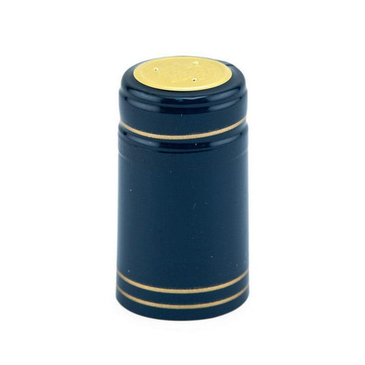 Shrink Cap | Blue/Gold Stripe (PK100)*