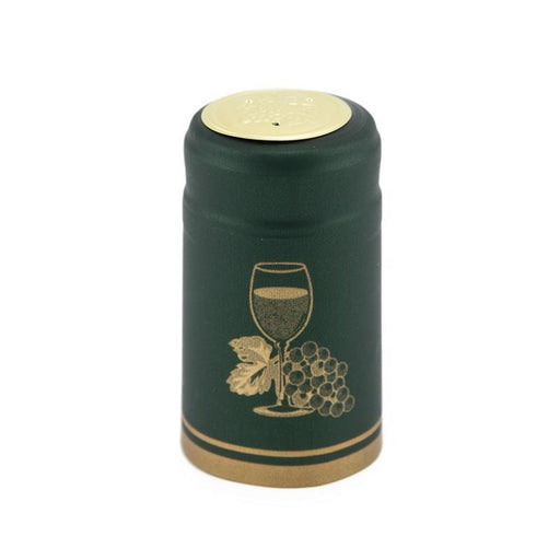 Shrink Cap | Basil Green w/Golden Cup (PK100)