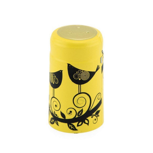 Shrink Cap | Canary Yellow w/Midnight Black Birds (PK100)