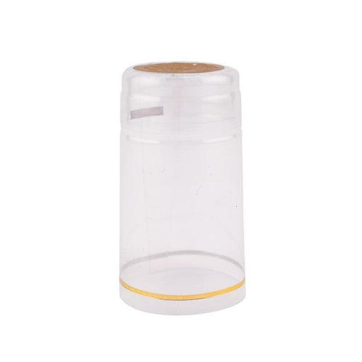 Shrink Cap | Clear w/Gold Top and Grape Imprint (PK100)*