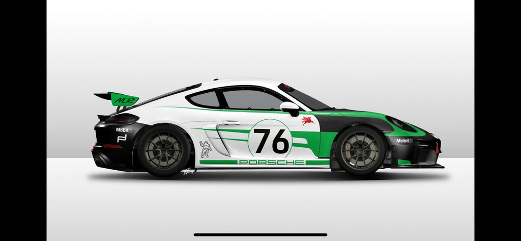 Porsche GT4 Clubsport MR graphics livery