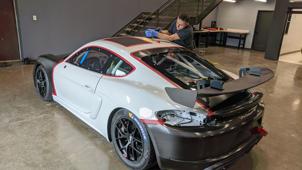 Porsche GT4 Clubsport MR paint correction