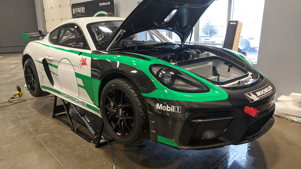 Porsche GT4 Clubsport MR XPEL paint protection fillm PPF