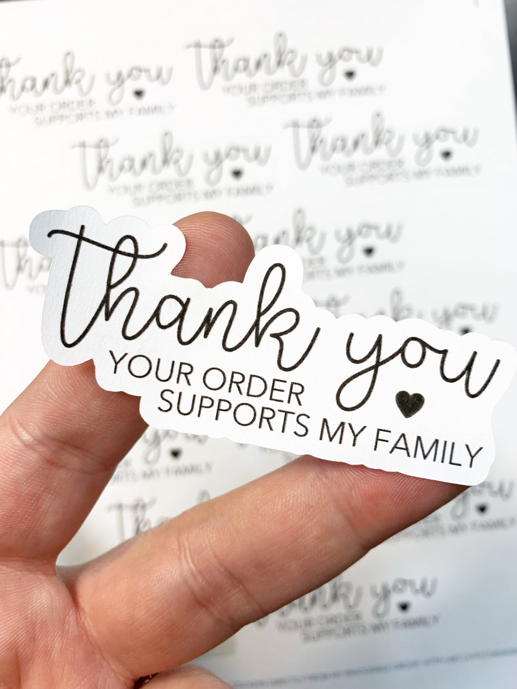 Packaging Stickers | #BW0018 - Supports My Family