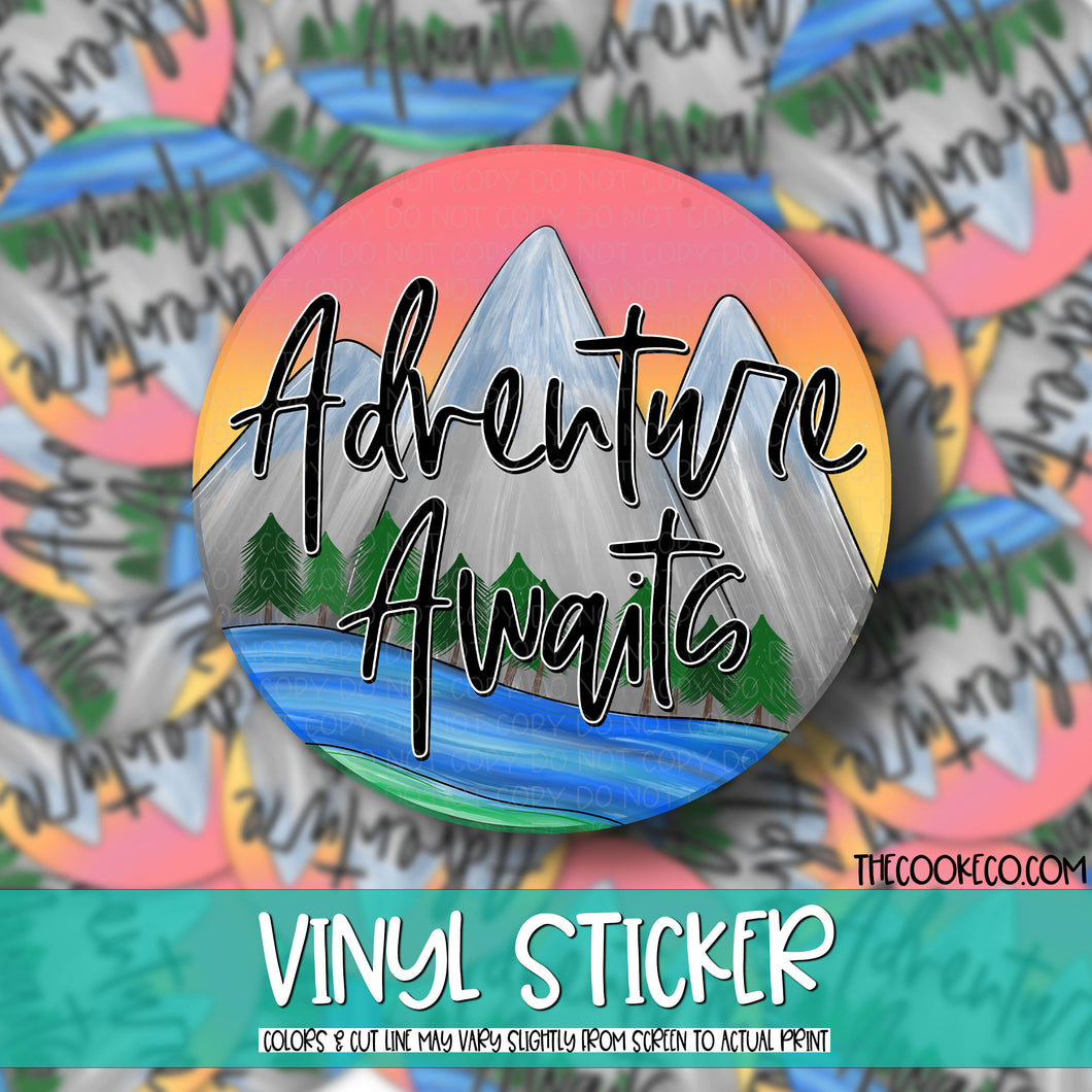 Vinyl Sticker | #V0048 - ADVENTURE AWAITS