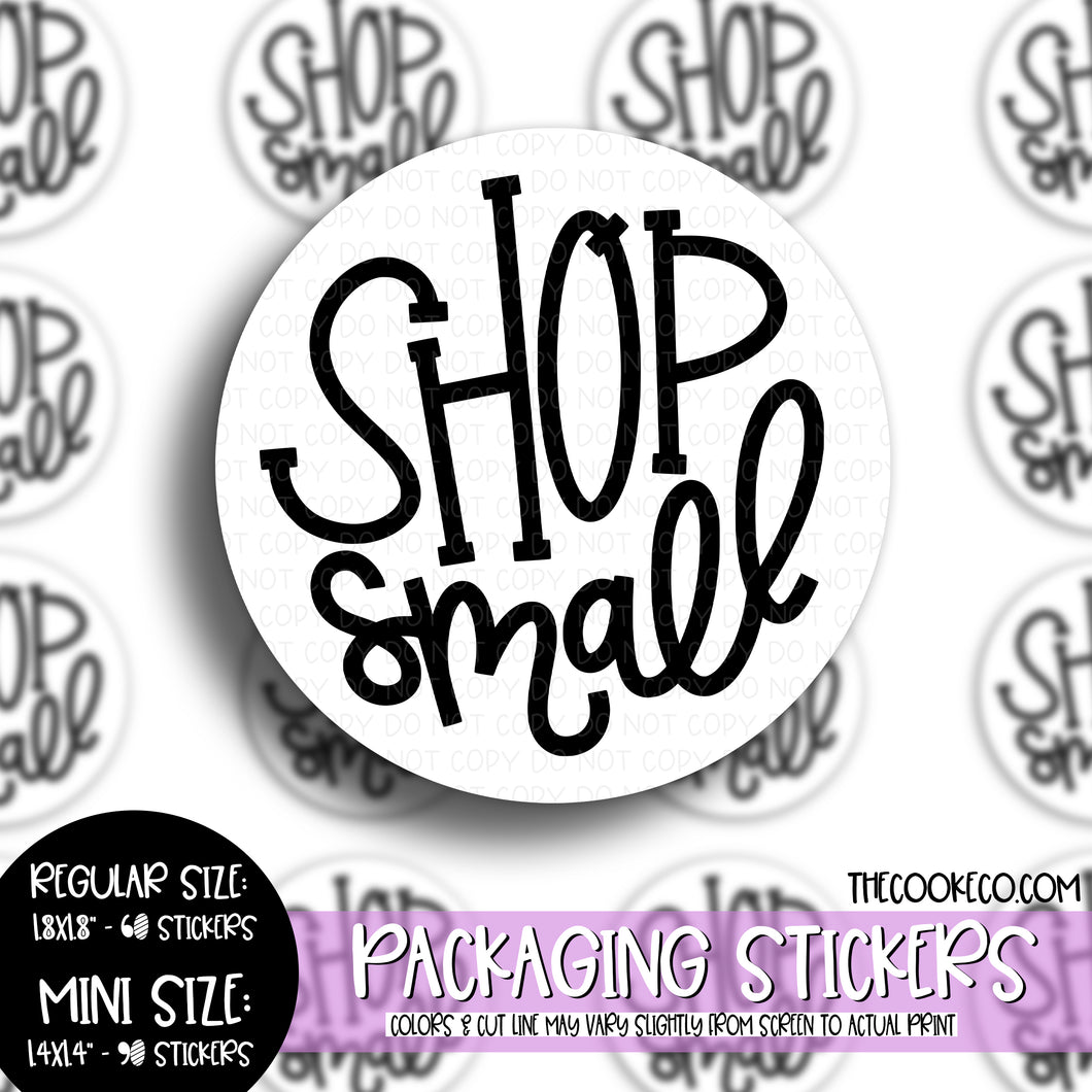 Packaging Stickers | #BW0093 - SHOP SMALL
