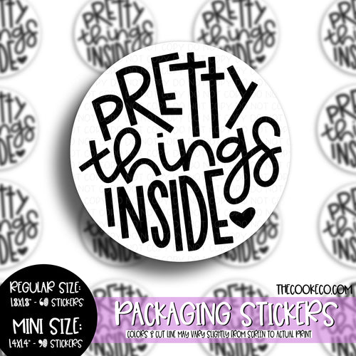 Packaging Stickers | #BW0095 - PRETTY THINGS INSIDE