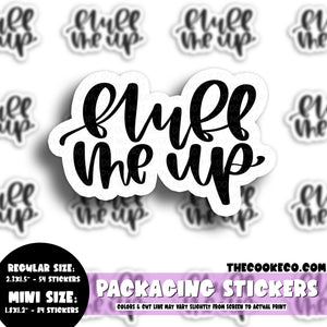 Packaging Stickers | #BW0123 - FLUFF ME UP