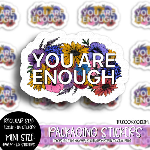 Packaging Stickers | #C0489 - YOU ARE ENOUGH
