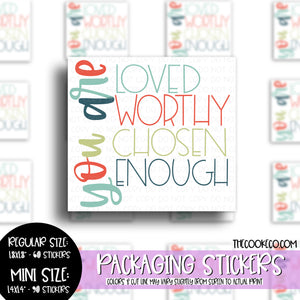Packaging Stickers | #C0499 - YOU ARE LOVED
