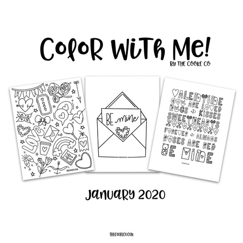 Color With Me by The Cooke Co - January 2020