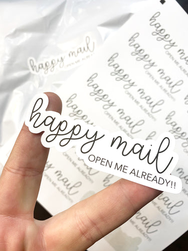 Packaging Stickers | #BW0008 - Happy Mail