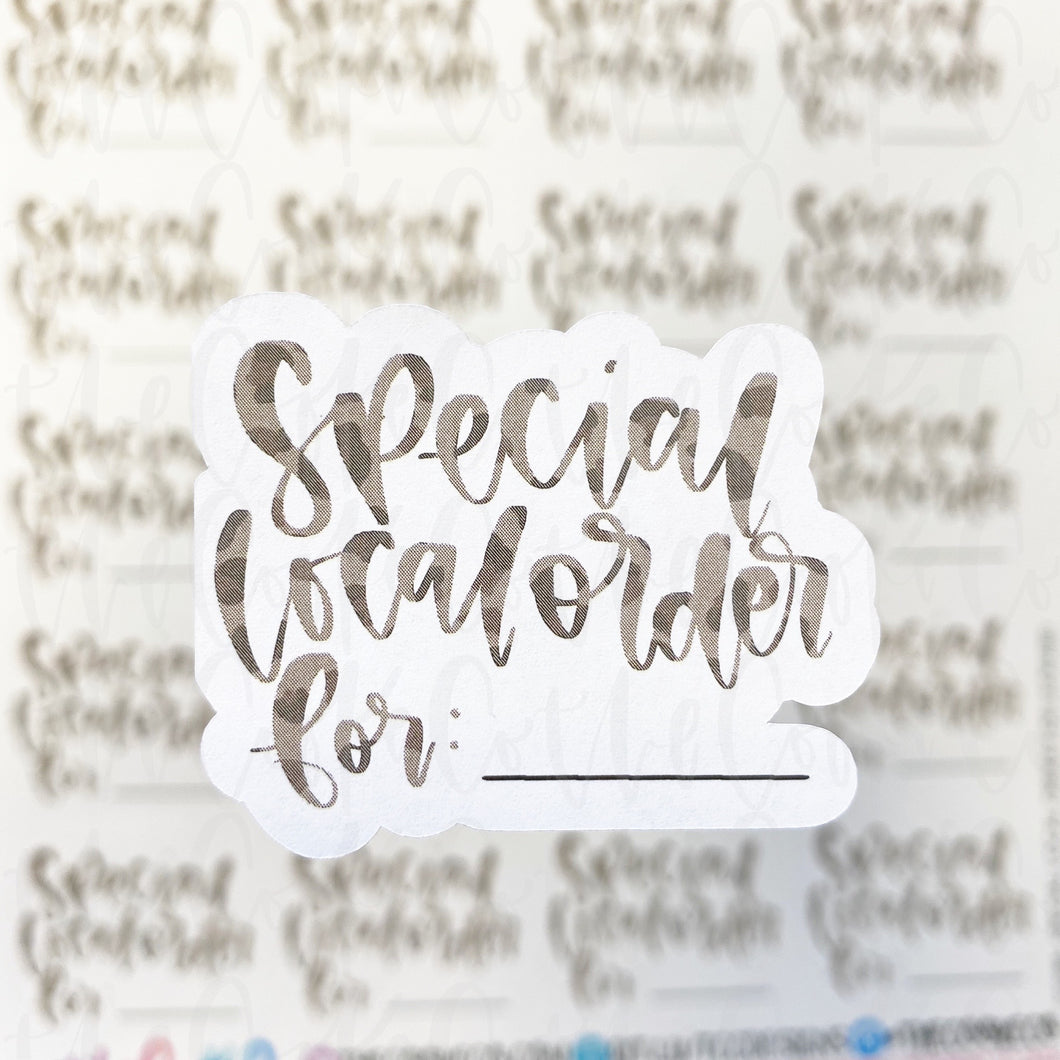 Packaging Stickers | #C0288 - SPECIAL LOCAL ORDER FOR - LEOPARD