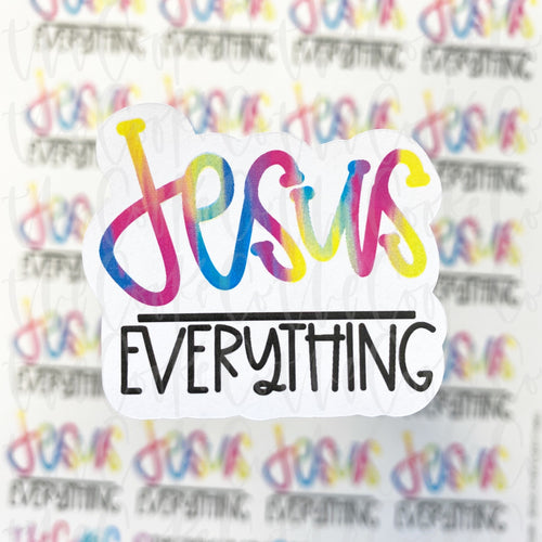 Packaging Stickers | #C0281 - JESUS OVER EVERYTHING