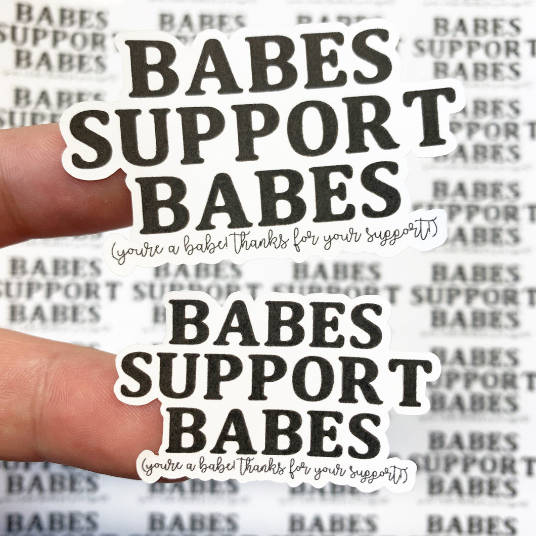Packaging Stickers | #BW0001 - Babes Support Babes