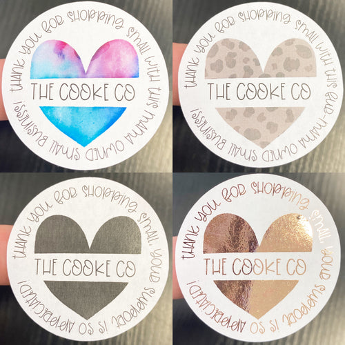 Customizable Packaging Stickers | #0029 - Heart Shopping Small