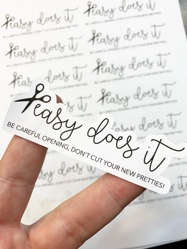 Packaging Stickers | #BW0006 - Easy Does It