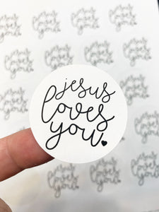 Packaging Stickers | #BW0009 - Jesus Loves You