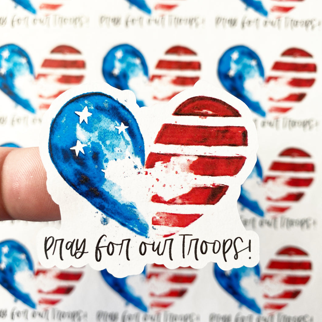 Packaging Stickers | #C0118 - PRAY FOR OUR TROOPS