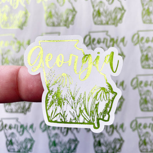 Packaging Stickers  | #C0131 - FLORAL STATES