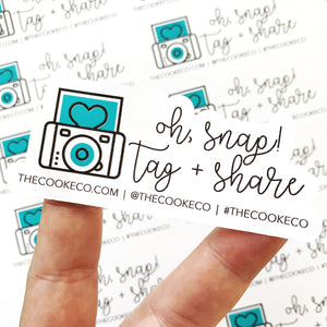 Customizable Packaging Stickers | #0001 - Oh Snap!